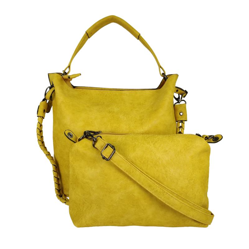Eleganci / Eternel dames schoudertas / handtas bag in bag - geel