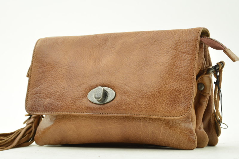 Bag2Bag - Dames schoudertas Spring - cognac brown