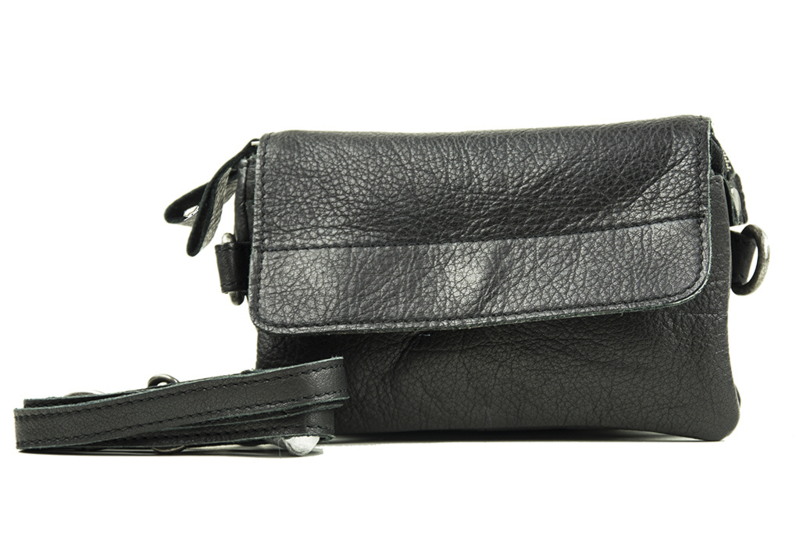 Bag2Bag dames schoudertas/clutch Quebec - zwart