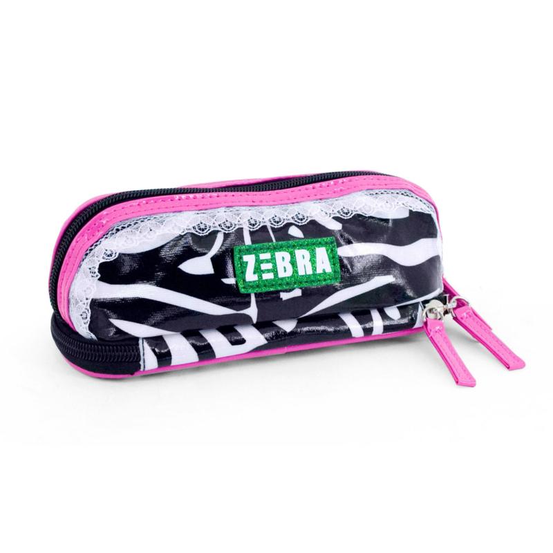 Zebra Trends etui / make-up tasje - zwart