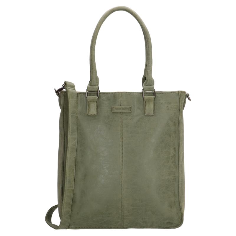 Enrico Benetti - Dames schoudertas shopper Metz 66435 - groen /olijf
