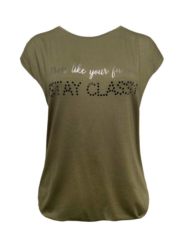 Elvira t-shirt Classy - green