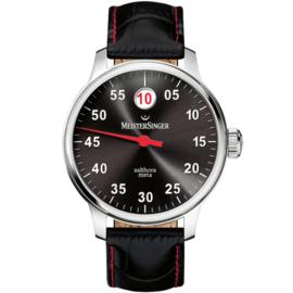 Meistersinger Salthora Meta Horloge Automaat Zwart - 43mm