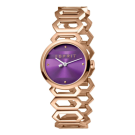 Esprit Arc Purple Rosegold Damenuhr 28mm
