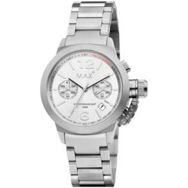 Max Watches Artisan Chronograaf Horloge RVS 44mm
