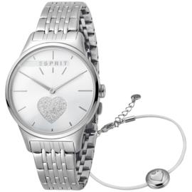 Esprit Love Silver Set horloge 34 mm