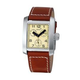 Max Watches Square Ladies RVS Horloge 34mm