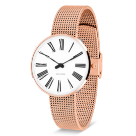 Arne Jacobsen Roman Horloge Rose Goud  34 mm