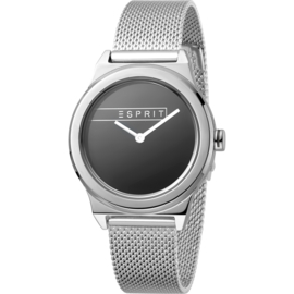 Esprit Magnolia Silver Mesh horloge 34 mm