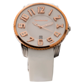 Tendence Gulliver Slim Uhr Steel Rose 10ATM XL