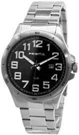 Prisma Classic Herenhorloge Edelstaal Datum 100m