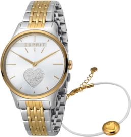 Esprit Love Gold/Silver Set horloge 34 mm