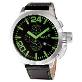 Max Watches XL Chronograaf Horloge RVS Groen 47mm