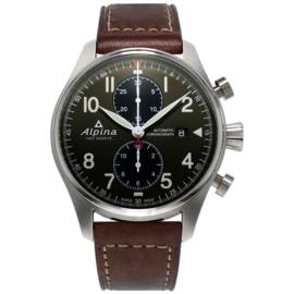Alpina Startimer Pilot Automatic Chronograph Swiss Made Horloge 44mm