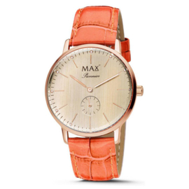Max Watches Pionnier Rosegoud RVS Horloge 40mm