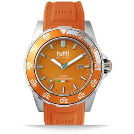 Tutti Milano Corallo Horloge Oranje Large 42mm