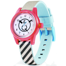 Q&Q Smile Solar Mini Perky Stripes Duurzaam Horloge 32mm