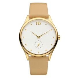 Danish Design Gold Stahl Damenuhr 36mm
