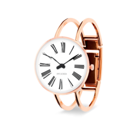 Arne Jacobsen Roman Horloge Rose Goud  30 mm