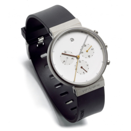 Jacob Jensen Chrono 601 Titanium Horloge 37 mm