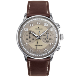 Junghans Meister Driver Chronoscope Automaat Staal 41mm