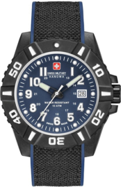 Swiss Military Hanowa Black Carbon Uhr 10BAR 44 mm