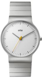 Braun horloge 38mm wit- BN0211SLBTG