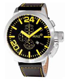 Max Watches Classic  Chronograaf XL Horloge RVS 47mm