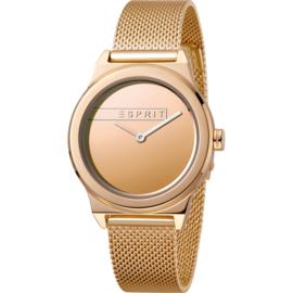Esprit Magnolia  Rosé Gold Mesh horloge 34 mm