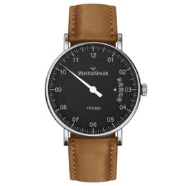 Meistersinger Vintago Horloge Automaat Zwart - 38mm