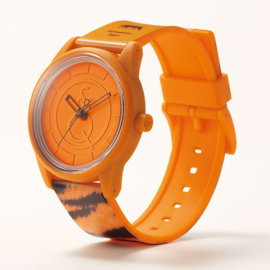 Q&Q Smile Solar Red List Tiger Uhr 40mm