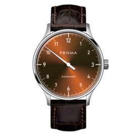 Prisma Design 'Einzeiger' Einzeigeruhr Braun 40mm