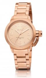 Max Watches Artisan Dames Horloge Rose RVS 38mm