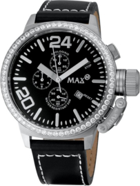 Max Watches Classic  Chronograph Uhr Edelstahl 47mm