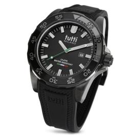 Tutti Milano Corallo Horloge Zwart 42,5mm