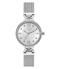 Gc: Guess Collection  Twist Silver Dameshorloge Swiss Made 34mm