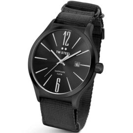 TW Steel TW1318 Slim Line Black NATO Horloge 45mm