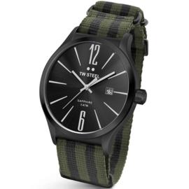TW Steel TW1319 Slim Line Green Black NATO Horloge 45mm