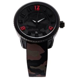 Tendence Gulliver Camouflage Horloge Dark 10 ATM L