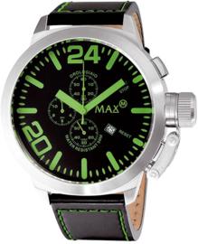 Max Watches XL Chronograaf Horloge RVS Groen 52mm