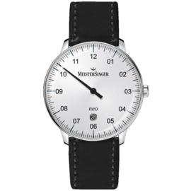 Meistersinger NEO Plus Horloge Automaat Opaline Silver - 40mm