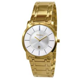 Prisma horloge Goud Edelstaal Datum 36mm