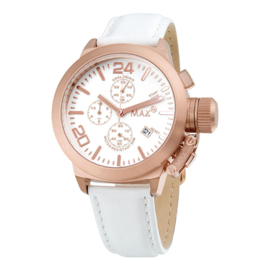 Max Watches Chrono Uhr Rose RVS 42mm