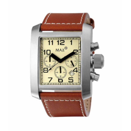 Max Watches Square Heren Chronograaf RVS Horloge 42mm