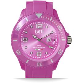 Tutti Milano Pigmento Horloge Fuchsia XL 48mm
