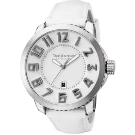 Tendence Swiss Made Uhr Steel White 10ATM XXL