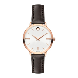 Movado Ultra Slim Dameshorloge Rosegoud 28mm