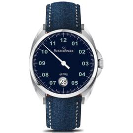 Meistersinger Metris Horloge Automaat Blauw - 38mm