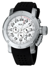 Max Watches Sports Chronograaf Horloge RVS 47mm