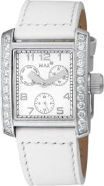 Max Watches Square Ladies RVS Horloge 34mm